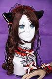 Kawaii-Story C DE 06Negro Rojo Gothic Lolita Maid Orejas de Gato Cat Ear Pelo Banda Collar Pulsera Set Cosplay