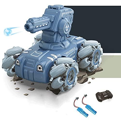 KGUANG 4WD Lanzamiento Bomba de Agua Tanque RC Off-Road Deriva Giratorio 2.4G Control Remoto Coche blindado Carga USB Vehículo eléctrico de Juguete para niños Niño Cumpleaños