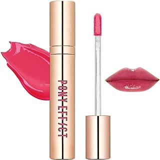 PONY EFFECT Favorite Fluid Lip Color Gloss #Love Potion 4.6g, 0.16 Ounces, Moisture Liquid Lip Gloss, Polish finish, High Glossy, Mauve Pink Color, Silky Texture