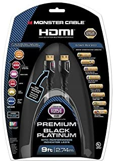 Monster Black Platinum Ultra HD High Speed HDMI Cable with Ethernet and Performance Indicators - 9 ft., 27Gbps
