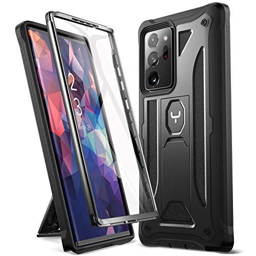 YOUMAKER Hülle für das Samsung Galaxy Note 20 Ultra 5G-Gehäuse mit integrierter Bildschirmschutzfolie & stoßfestem Ganzkörper. Stoßfeste für das Galaxy Note 20 Ultra 5G 6,9 Zoll - Schwarz