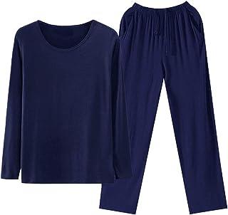 Men's Pyjamas Sets Cotton Soft Modal Loungewear Short/Long Sleeve Stretch Sleepsuits Pjs Summer Winter Sleepwear Top & Bot...