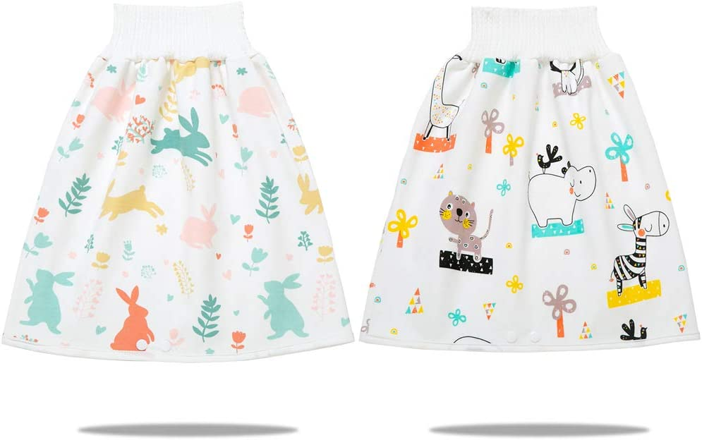 Talessweet Diaper Skirts/Shorts for Potty Training- Waterproof Bed Clothes for Baby Boy Girl Night Time-Washable Mattress Protection-Bedwetting and Incontinence Cover Pads for Babies & Toddler