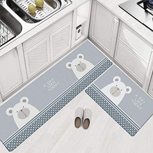 CZZJH Teppich Küche Bodenmatte Teppich Leder Fußpolster Ölbeständige Wasserdichte Schlafzimmer Cartoon Fußmatte Pvc Matte