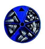 Drop-Shot - Surtido de plomo en latas redondas (120 g, 120 g)