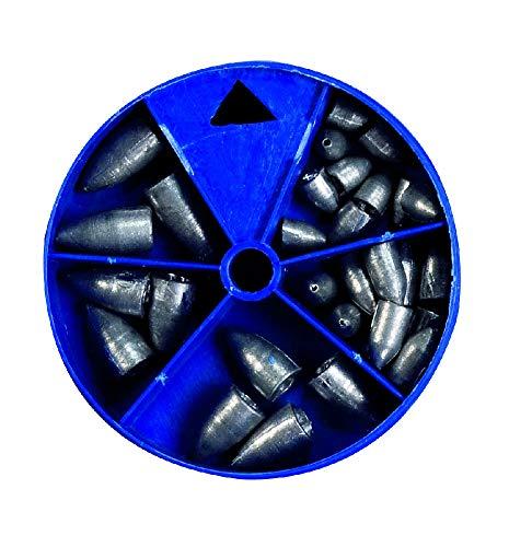 Drop-Shot Bleisortiment in runden Dosen 140 g, Bezeichnung / Gewicht: Bullet / 140 g