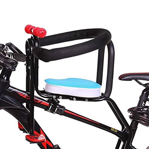 Asiento De Bicicleta Para Niños De Montaje Frontal, Silla De Seguridad Para Bicicletas Para Niños, Asiento Para Portabebés Con Pasamanos Para Niños Y Niños Pequeños ( Color : Blue )