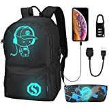 Anime Luminous Backpack, Schoo...