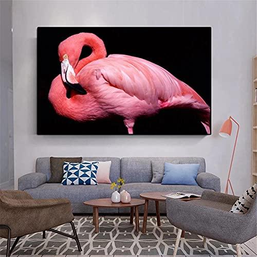 5D DIY Pintura de Diamante de Kits Flamenco rosa Completo Crystal Rhinestone Adulto Sniño de Punto de Cruz Embroidery Art Decoración de la Pared del Hogar Diamond Painting Regalo Square Drill 45x60cm