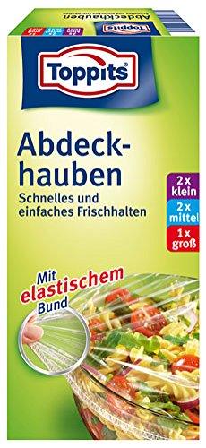 Toppits Abdeckhauben Quick-Tops (2 x klein, 2 x mittel, 1 x groß) - 5St.