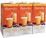 Thaiwala Traditional Thai Tea Concentrate (6 x 32oz) - Just Mix Equal Parts Half and Half or Whole Milk With Our Award-Winning Natural Thai Iced Tea Concentrate