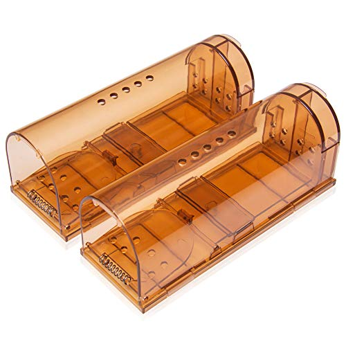 Extraphub Humane Mouse Trap Live Catch No Kill Smart Mousetrap,Safe Around Kids and Pets,(2) Two Pack