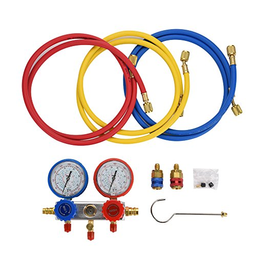 0~500Psi Aire acondicionado Refrigerante Diagnóstico Fluorine Manifold Table Gauge Set