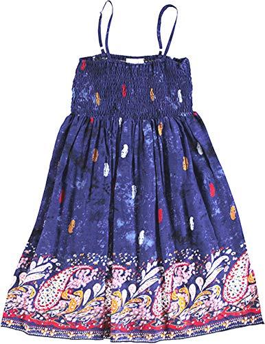 Topo Mädchen Sommer Träger Kleid Ethno (170)
