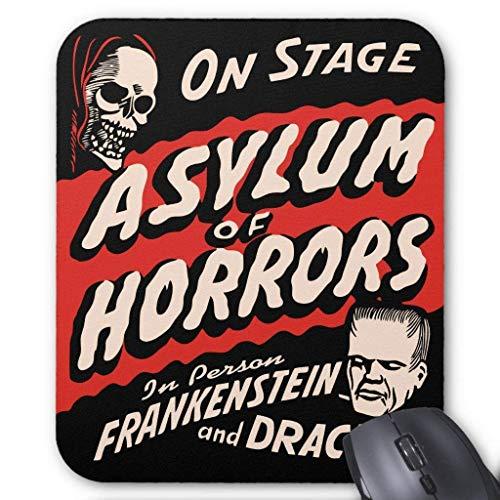 Accessoire informatique Bracelet Anti-friction Asylum of Horrors Vintage Spook Show Tapis de souris 18 x 22 cm