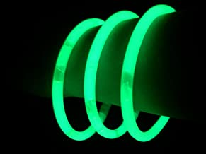 "Glow Sticks Bulk Wholesale Bracelets, 100 8"" Green Glow Stick Glow Bracelets, Bright Color, Glow 8-12 Hrs, 100 Connectors Included, Glow Party Favors Supplies, Sturdy Packaging, GlowWithUs Brand"