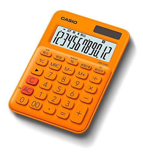 カシオ カラフル電卓 オレンジ 12桁 ミニジャストタイプ MW-C20C-RG-N