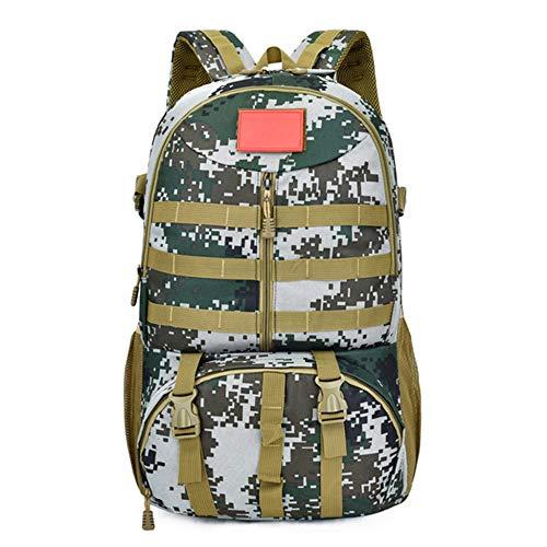 Zakjj Tactical Military Backpack Rucksack Mit USB-Ladeanschluss Und Molle Strap Outdoor Travelling Camping Trekking Rucksack 55L,A