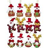 SouFace Lot de 12 décorations de sapin de Noël rustiques pour sapin de Noël