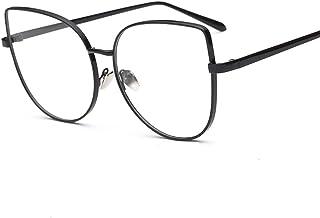 bbe7993563a2 Oversized Glasses Women Cat Eye Eyeglasses Frames For Ladies Gold Metal