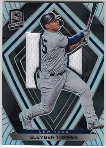 Gleyber Torres 2020 Panini Chronicles Spectra Silhouettes Prizm Refractor Jersey Card New York Yankees