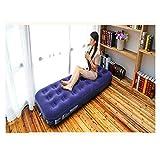 Aufblasbare Matratze 2 Person falten tragbar flockschicht eingebaute weich dick wiederaufladbarer...