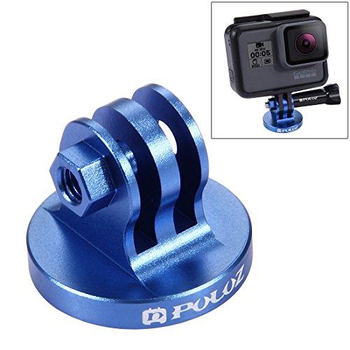PULUZ Accesorio Extensible Selfie, Monopod para GoPro Hero 7 6 5 Hero 4 Session Hero 4 3 + 3 2 1 SJCAM SJ4000, 19-49cm (Adaptador de Montaje-Azul)