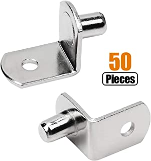 Pegs Pins L-Shaped Clips Polished Nickel for Kitchen & Bookcase Shelf Shelf Bracket Pegs with Hole Support Pegs