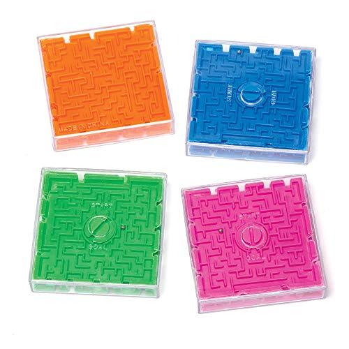 Baker Ross 3D-labyrint puzzelspel (4 stuks) – labyrint spel met kogel – perfect als kleine feestverrassing en cadeau voor kinderen