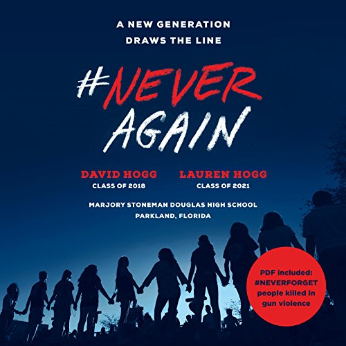 #NeverAgain audiobook cover art