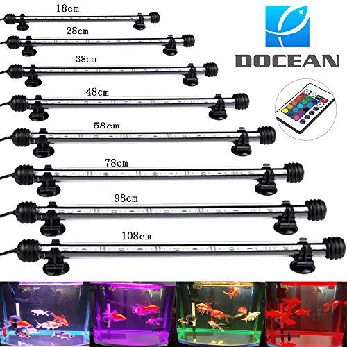 DOCEAN Aquarium Lampe Beleuchtung 5050SMD 33 LEDs 7.8W RGB Licht 58CM Leuchte mit EU Stecker Lighting Wasserdicht für Fisch Tank