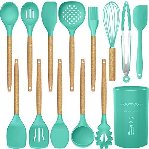 14 Pcs Silicone Cooking Utensils Kitchen Utensil Set,446