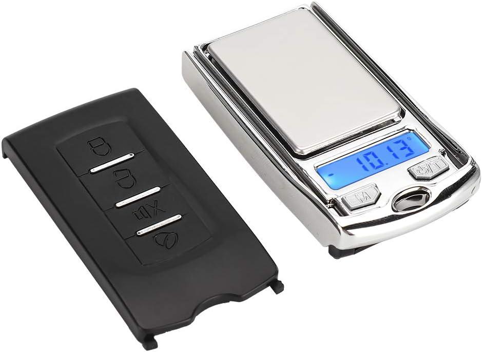 Genericer Báscula de Bolsillo Digital Toolour 100g/0.01g Mini joyería portátil para el hogar Balance de Peso Báscula electrónica Digital multifunción con Pantalla LCD de Alta precisión
