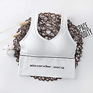 Nuokix Quick Dry Crop Top Women Push Up Yoga Bra Cup For A-D Black White Running Sport Bra Sports Bra Women For Fitness To...