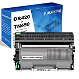 KALOKING Compatible Toner Cartridge and Drum Unit Replacement for Brother TN420 TN-420 TN450 TN-450 DR420 DR-420 for DCP-7060D 7065DN HL-2240 2270DW 2280DW MFC-7360N 7460DN 7860DW (1 Drum & 1 Toner)