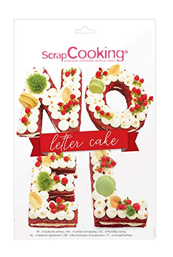 SCRAP COOKING 3919 Scrapcooking Kit Letter Cake Noël