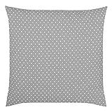 Tischdeckenshop24 Kissenbezug Polka 2-TLG, grau, Moderne Kissenhülle mit Punkten für das ganze Jahr, für Kissen in 40x40 cm