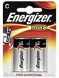 Energizer Max 2 piles 9V alcalines C/LR14 (lot de 4)