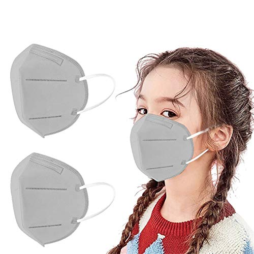 Alangbudu Kids 5-Layer Face_Mask Reuseable Non-woven Filter Face Mouth Cover For Children Outdoor Playing (20PC)