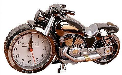 MYYYYI Retro-Stil Motorrad Wecker, einzigartige auffällige Exquisite Motorrad Sporting einzigartiges Geschenk für Motorliebhaber, Kinder, Jungen,1