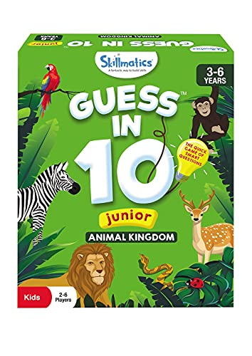 Skillmatics Card Game : Guess in 10 Junior Animal Kingdom   Gifts, Super Fun & Educational for Ages 3-6