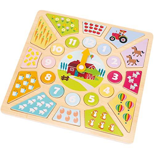 New Classic Toys Pendule Puzzle Jeu d'Imitation Éducative pour Enfants