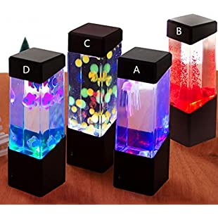 Oyalaiy OYOTRIC Volcanic lava LED Artificial Mini Color Changing Mood Lamp for Home Decoration Magic Lamp for Gift:Examen17result