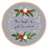 Plantas de bordado de bricolaje Costura de trabajo hecho a mano para principiantes Kit de punto de cruz Pintura de cinta Aro de bordado Decoraciones para el hogar, 10, Estados Unidos