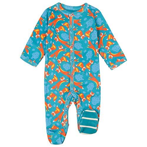 Piccalilly Fox Baby Schlafanzug mit Füßen, Unisex Design, Chemiefreie Bio-Baumwolle...
