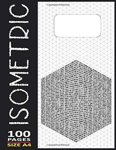 Isometric Paper Triangle Notebook 8.5'X11' Inches - 100 Numbered-Page: Reduced Line Thikness for Perspective Detail Work with Extra Fine Pens