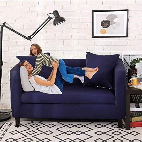 MAILESPET Fundas Decorativas para sofás Cubierta Protectora para sofá Todo Incluido Azul Marino 4 Asientos