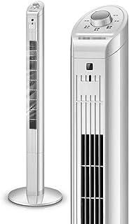 Ventilador De Torre Oscilante De 120 Cm Altura, Base Redonda Estable De Piso Portátiles Y Silenciosos, Ventiladores De Torre Sin Cuchillas para Toda La Sala, Aire Acondicionado, 3 Velocidades, Blanco