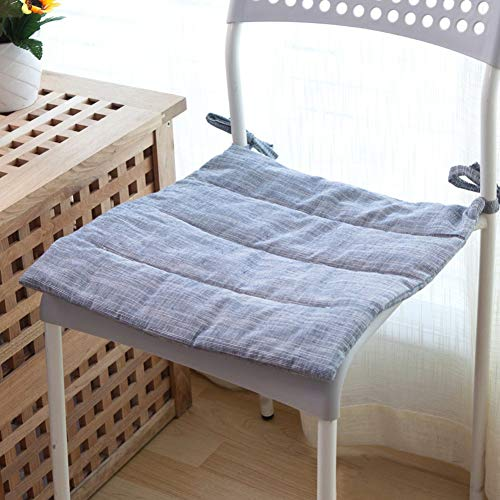 NSYNSY Cojín de Silla cómodo Antideslizante de algodón japonés, cojín de Silla Lavable de Color sólido Tapete de Mesa-A 40x40cm (16x16 Pulgadas)