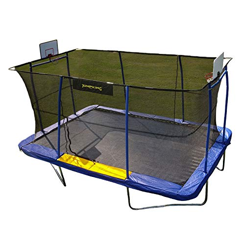JumpKing JKRC10152BHC3 Rectangular Trampoline with Basketball Hoop...